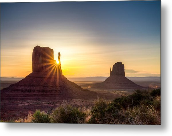 Mittens Sunrise Metal Print