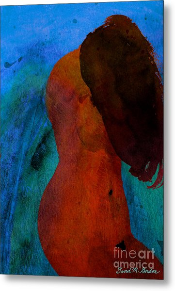 Mixed Media Figure Metal Print