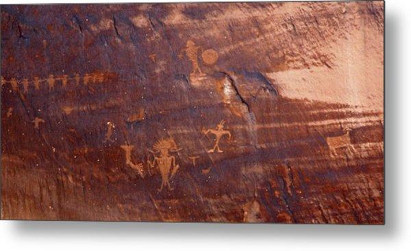 Moab Petroglyph Metal Print