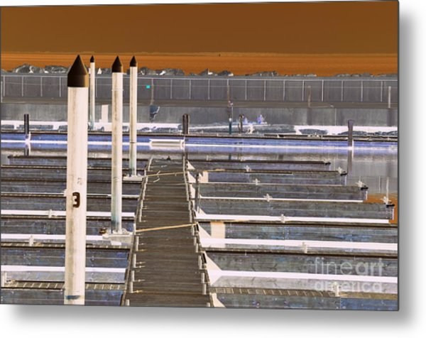 Metal Print featuring the photograph Mocha Dock 2 by Richard Ricci