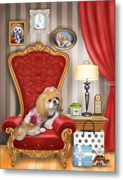 Mocha S Living Room Metal Print