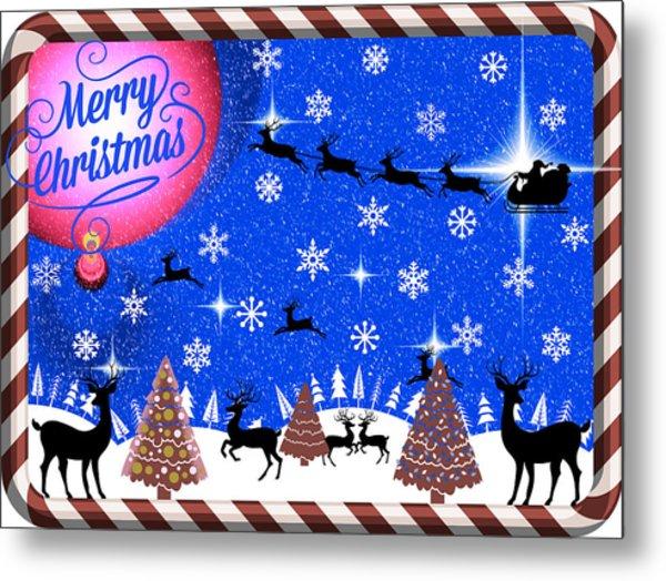 Mod Cards - Reindeer Games - Merry Christmas IIi Metal Print
