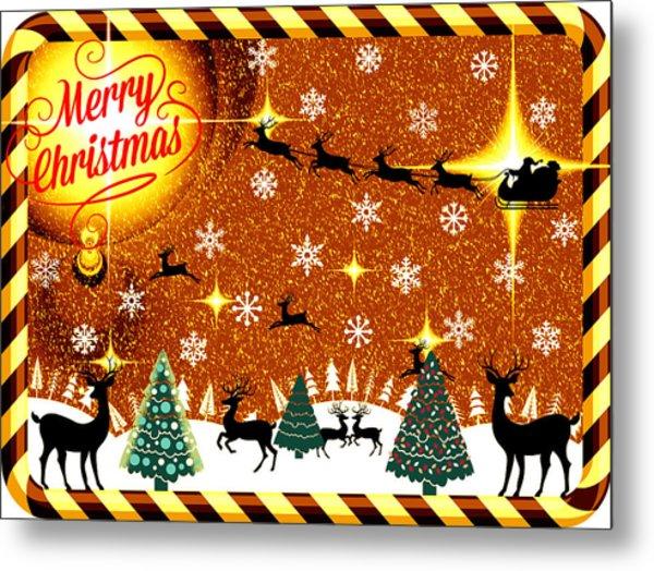 Mod Cards - Reindeer Games - Merry Christmas V Metal Print