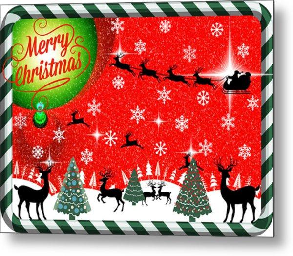 Mod Cards - Reindeer Games - Merry Christmas Metal Print