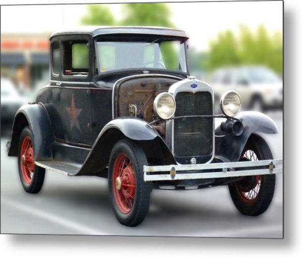 Model A Sheriff's Car Metal Print