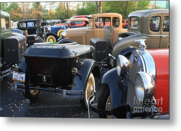 Model A With Trailor Metal Print by Connie Mueller