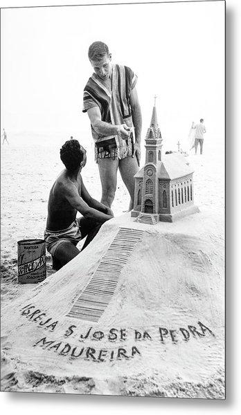 Model By Sand Sculpture Metal Print by Richard Waite