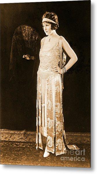 Model Norma Talmadge 1920 Metal Print by Padre Art