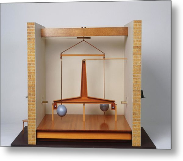 Model Of A Gravitational Experiment Metal Print by Dorling Kindersley/uig