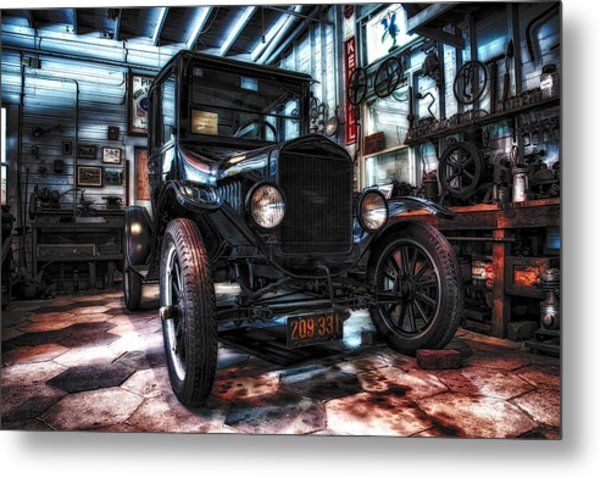 Model T In Hdr Metal Print