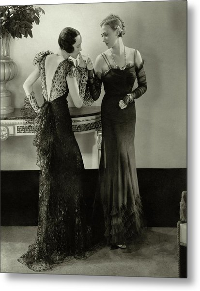 Models In Evening Gowns Metal Print