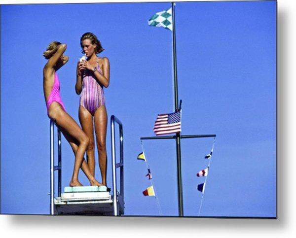 Models Wearing Bathing Suits Metal Print