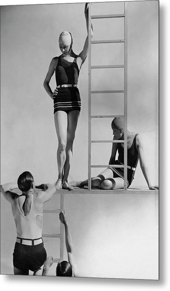 Models Wearing Bathing Suits Metal Print