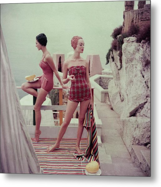 Models Wearing Bathing Suits In Palermo Metal Print