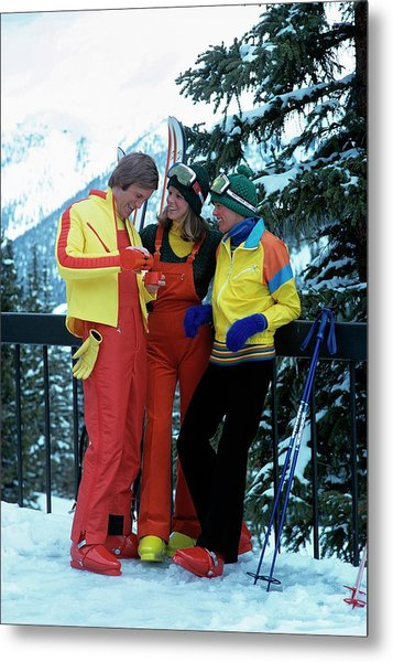 Models Wearing Ski Clothes Metal Print