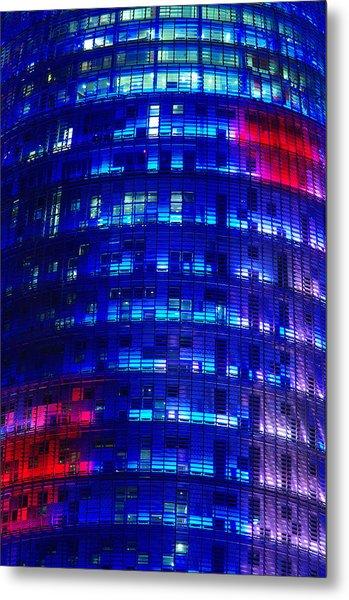 Modern Building At Night Metal Print by Ioan Panaite