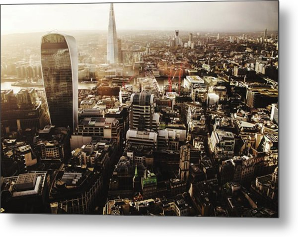 Modern Buildings Amidst Cityscape Metal Print by Lamarr Golding / Eyeem
