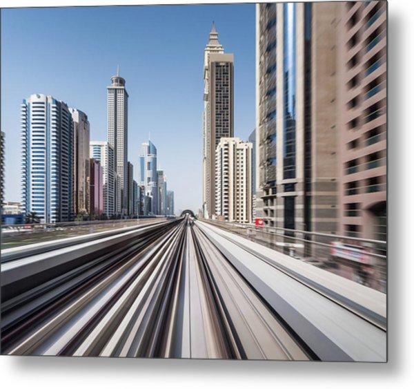 Modern Dubai Metal Print by Yongyuan Dai