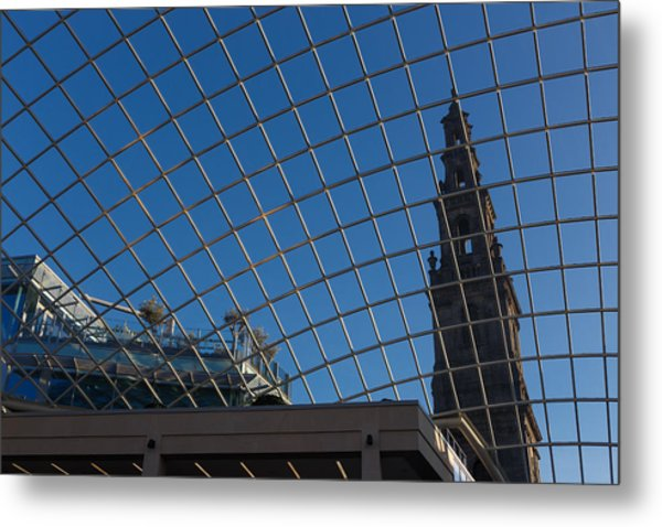 Metal Print featuring the photograph Modern Meets  by Paul Indigo