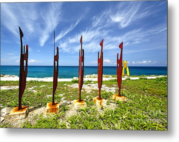 Modern Sculptures Seaside Metal Print