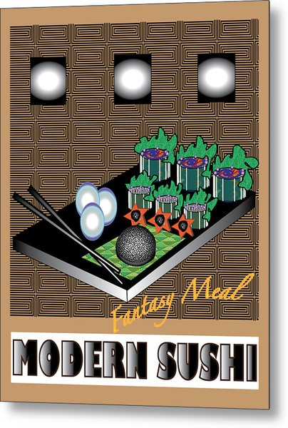 Modern Sushi Metal Print by Colleen Cannon