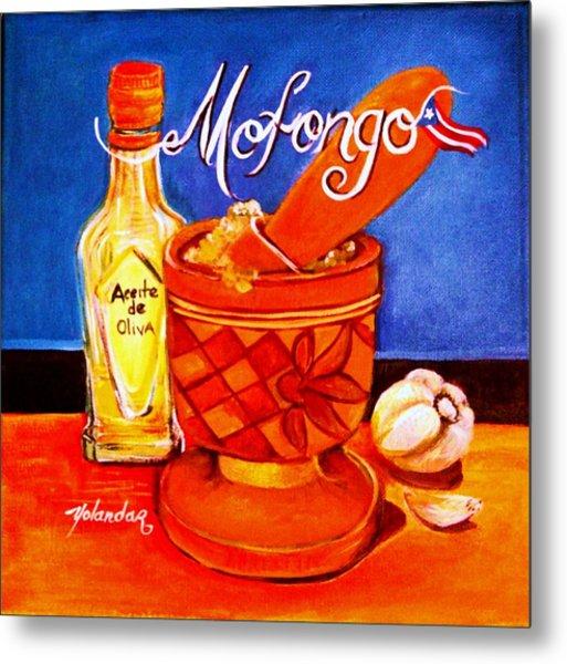 Mofongo En El Pilon  Metal Print