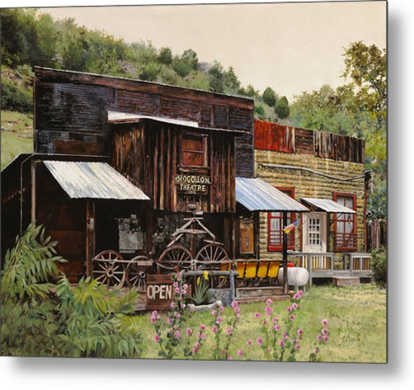 Mogollon-theatre-new Mexico  Metal Print