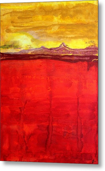 Mojave Dawn Original Painting Metal Print