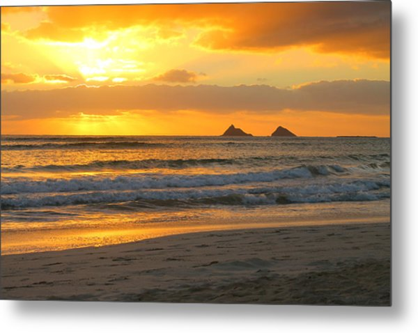 Mokulua Sunrise Metal Print by Saya Studios