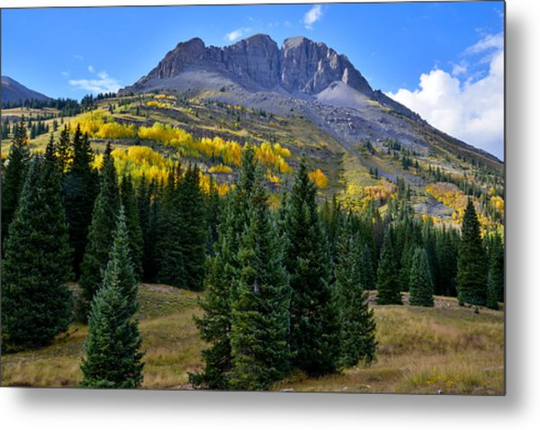 Molas Pass Fall Color Metal Print