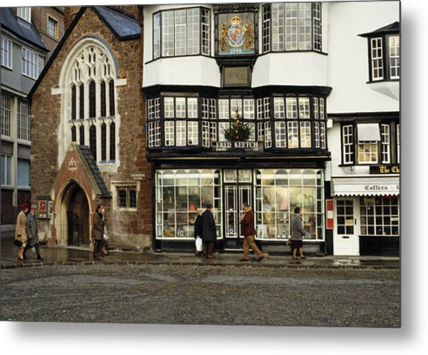 Mols Coffee House From 1596 Cathedral Close Exeter Uk 1980s Metal Print by David Davies