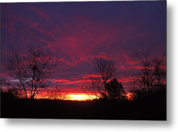 Molten Sunrise Metal Print