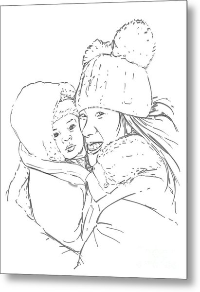 Mom And Baby Metal Print