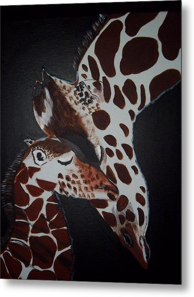 Momma And Baby Metal Print by Donna Bird