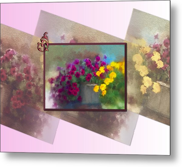 Moms Garden Art Metal Print