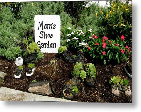 Moms Shoe Garden Metal Print