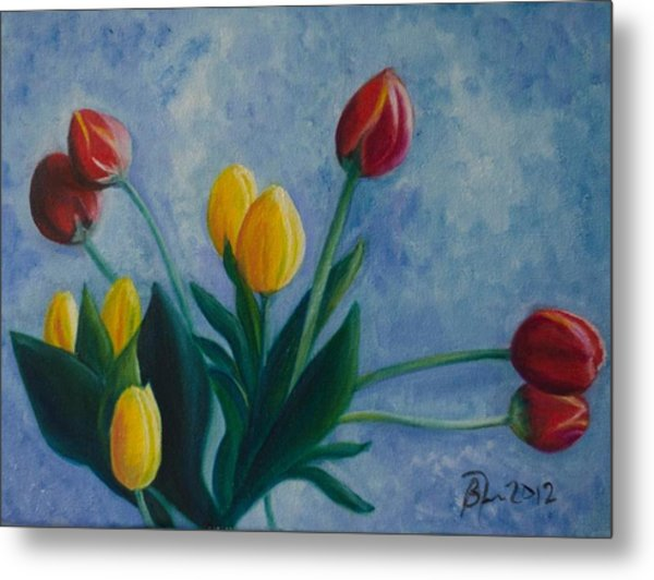 Mom's Tulips Metal Print by Beatriz Topete