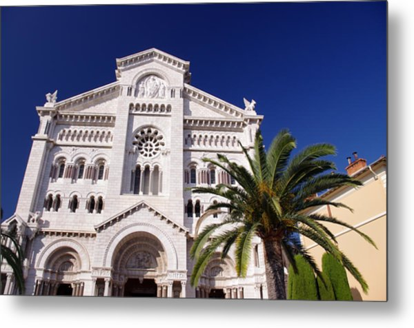 Monaco Cathedral Metal Print by Ioan Panaite