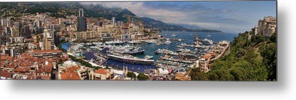 Monaco Panorama Metal Print