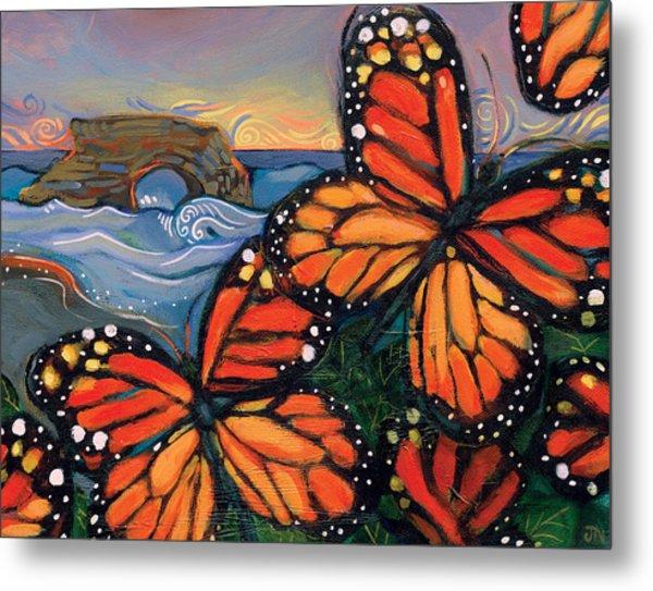 Monarch Butterflies At Natural Bridges Metal Print