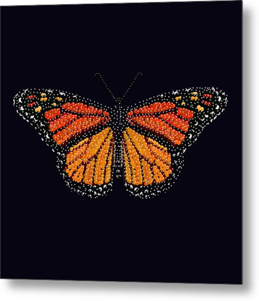 Monarch Butterfly Bedazzled Metal Print