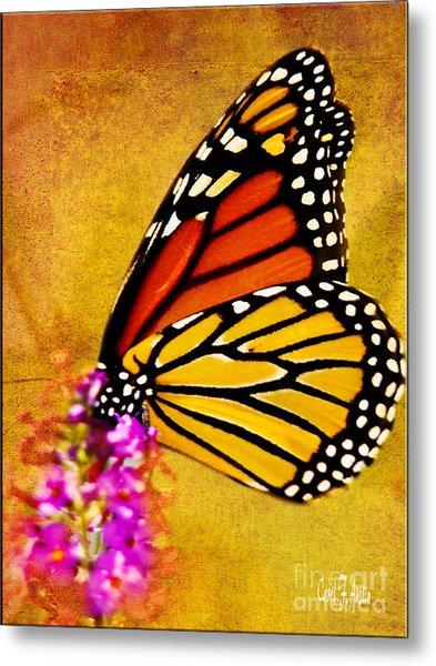 Monarch Butterfly Color Splash Sunset Metal Print