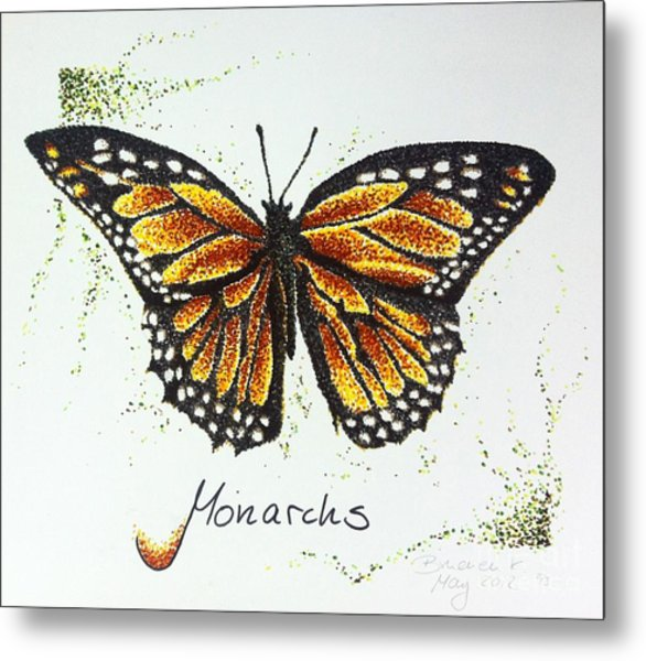 Monarchs - Butterfly Metal Print