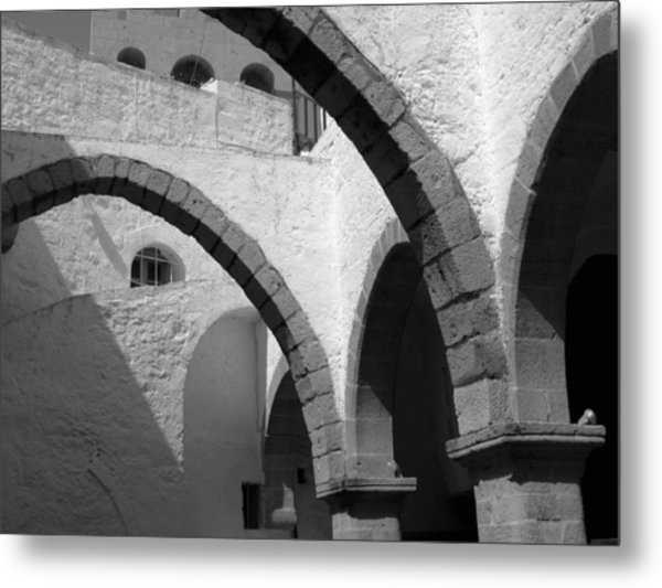 Monastery Arches Metal Print