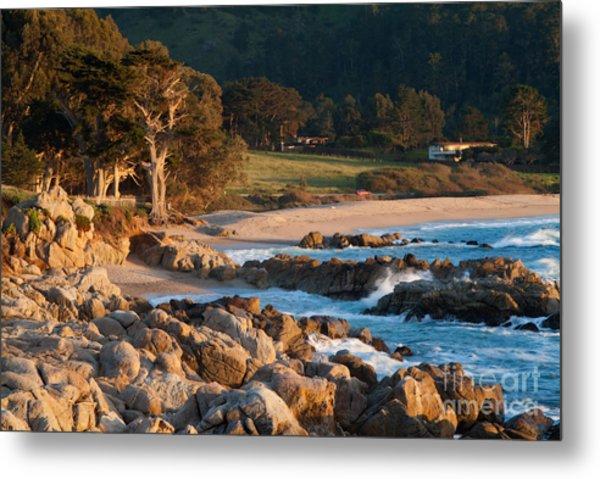 Monastery Beach In Carmel California Metal Print