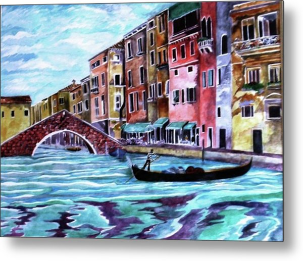 Monday In Venice Metal Print