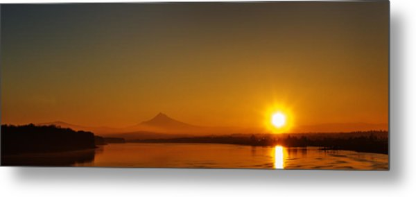 Monday Morning Columbia River Mount Hood Metal Print