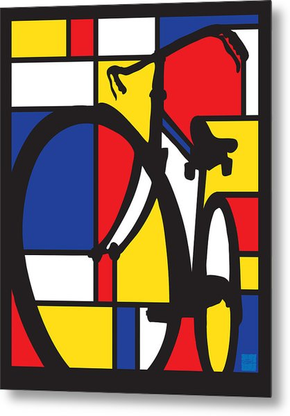 Mondrian Bike Metal Print