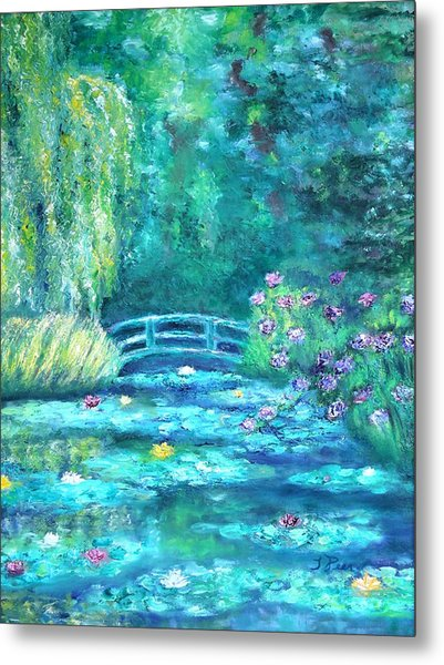 Monet Bridge Dream Metal Print