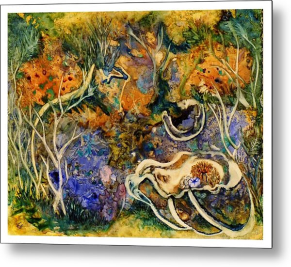 Monet Under Water Metal Print